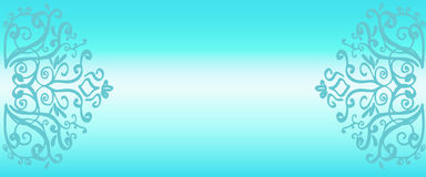 文本的空间 蓝色梯度背景 库存例证
