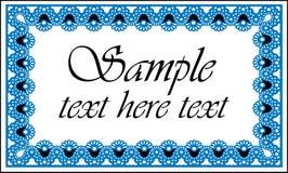文本的蓝色和空白框架 库存图片