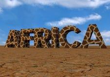 文本非洲 免版税图库摄影