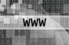 文本题字万维网在一个半透明的领域s被写 免版税图库摄影