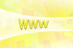 文本题字万维网在一个半透明的领域s被写 库存图片