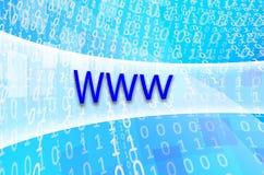 文本题字万维网在一个半透明的领域s被写 免版税库存照片