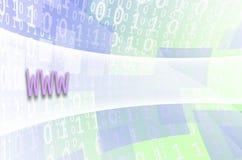 文本题字万维网在一个半透明的领域s被写 免版税库存图片