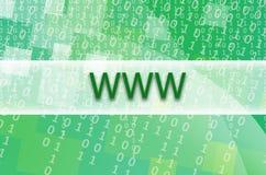文本题字万维网在一个半透明的领域s被写 库存照片