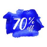 70%文本,商标,卡片,海报,词,写在painte 免版税库存照片