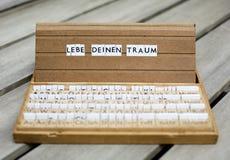 文本:Lebe Deinen Traum 库存照片