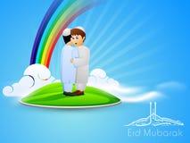 文本Eid穆巴拉克阿拉伯伊斯兰教的书法  免版税库存图片