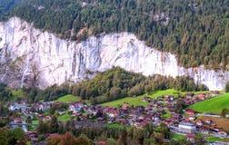 文根在瑞士阿尔卑斯 免版税库存图片
