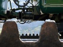 文根,瑞士 08/04/2009 导致6月的齿轨铁路 免版税库存照片