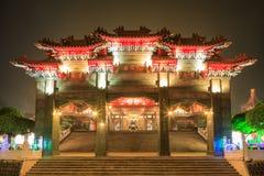 文武庙(如被写在曲拱武术)南投,台湾 免版税库存照片