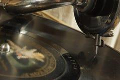文物的留声机音乐牌照 库存图片