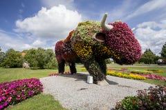 文茨皮尔斯市标志-母牛 免版税库存照片