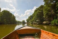 文莱河-小船旅行 库存照片