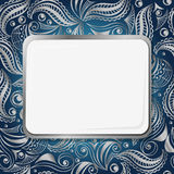 文雅艺术您的文本的Nouveau框架 免版税库存照片
