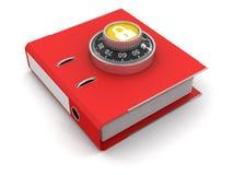 文件保护(包括的裁减路线) 免版税图库摄影