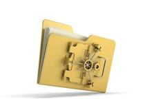 文件保护 库存照片