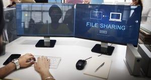 文件分享互联网技术社会存贮概念 免版税库存图片