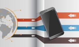 文件分享现代智能手机 免版税库存照片