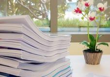文件在办公室 免版税库存照片
