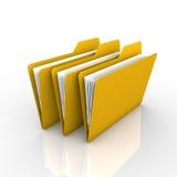 文件夹和文件 免版税库存图片