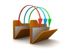 文件夹文件份额 免版税库存图片