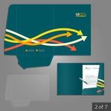 文件夹模板设计 免版税图库摄影