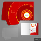 文件夹模板设计 图库摄影