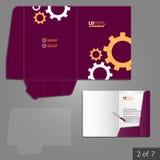文件夹模板设计 免版税库存照片