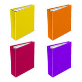 文件夹颜色传染媒介象 图库摄影