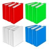 文件夹颜色传染媒介象 免版税库存图片