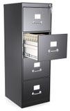 黑文件柜。 库存照片