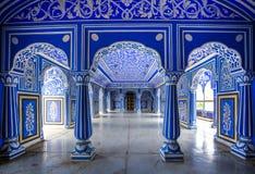 斋浦尔市宫殿,拉贾斯坦,印度 免版税库存照片