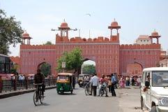 斋浦尔,印度都市风景  免版税库存照片
