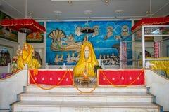 斋浦尔,印度- 2017年9月19日:室内观点的寺庙女神卡利市Ma和上帝斋浦尔本机寺庙的Bhairav Murti 免版税库存照片