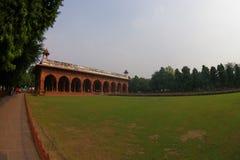 斋浦尔,印度- 2017年9月19日:美好的回教建筑学细节Diwan我是或者观众的霍尔,在里面 免版税库存照片