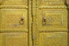 斋浦尔,印度- 2017年9月19日:金黄门在城市宫殿 印度斋浦尔 免版税库存图片
