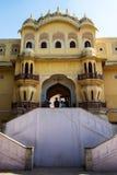 斋浦尔,印度- 2018年1月10日:风宫殿的庭院  mahal的hawa 免版税库存图片