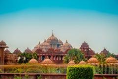 斋浦尔,印度- 2017年9月19日:Akshardham寺庙美丽的景色在新德里,印度 Akshardham复合体是a 免版税库存照片