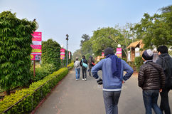 斋浦尔,印度- 2014年1月31日:旅游参观Jawahar Kala肯德拉在斋浦尔 库存照片