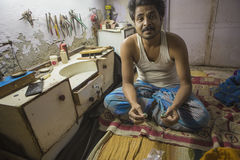 """斋浦尔,拉贾斯坦,印度†""""DEC, 2016年:印地安的珠宝商做 图库摄影"""