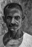 斋浦尔,拉贾斯坦,印度-大约2010年10月-一个未认出的印地安人的画象 免版税图库摄影