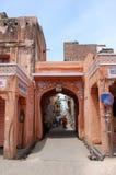 斋浦尔- `桃红色市`古老街道印度 库存照片