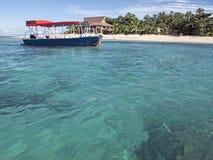 斐济岛最佳的海滩照片 自然全景 图库摄影