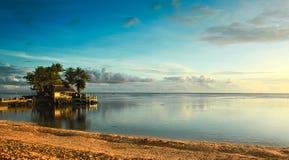 斐济日落 免版税库存图片