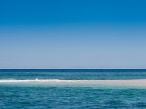 斐济沙子岩礁 库存图片