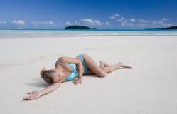 斐济海洋和平的南热带假期 免版税库存照片