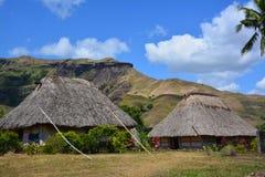 斐济的Navala村庄 免版税库存图片