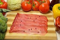 斑点,意大利熏制的鲜美火腿 免版税库存图片
