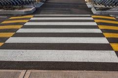 斑马交通步行方式在城市 免版税库存图片