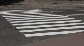 斑马交通步行方式路照片 免版税库存照片